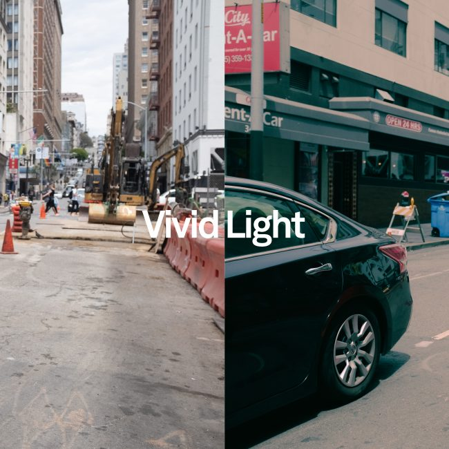 before and after Vivid Light
